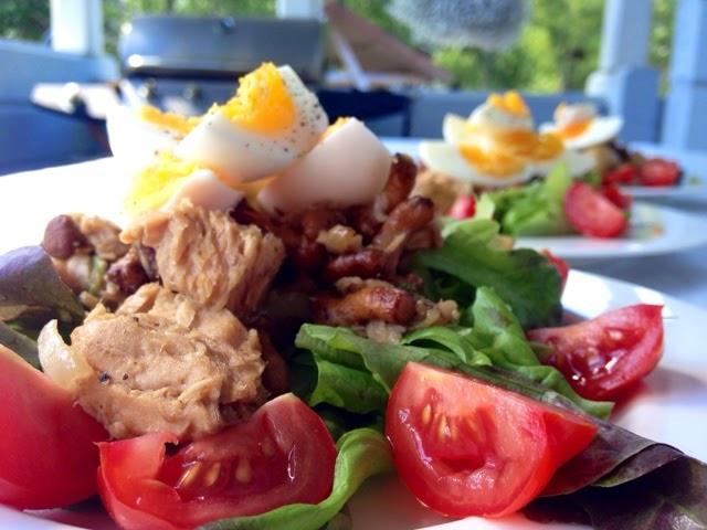 Salad Nicoise- kanttarelleilla!